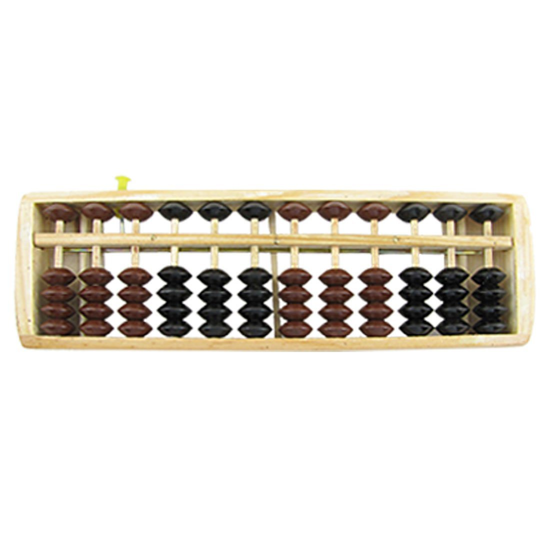 SODIAL(R) School Office Wood 12 Digits Soroban Abacus Calculator