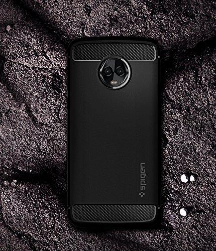 Spigen Rugged Armor Moto G6 Case Flexible Durable Shock Absorption Carbon Fiber Design Motorola Moto G6 (2018) - Black by Spigen (Image #2)
