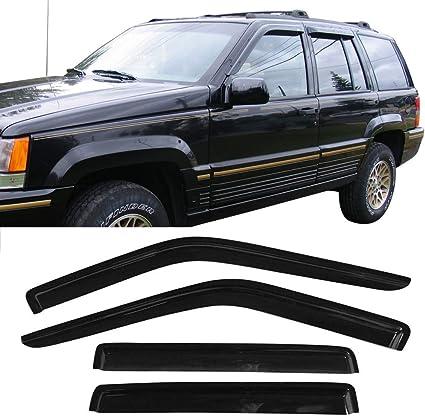 Rain//Wind Tint Guard Shade Deflector Window Visors 4Pc For 93-98 Grand Cherokee