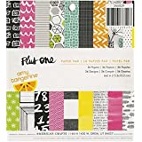 American Crafts 36-Sheet Amy Tangerine Plus One Patterned Paper Pad, 6 by 6-Inch