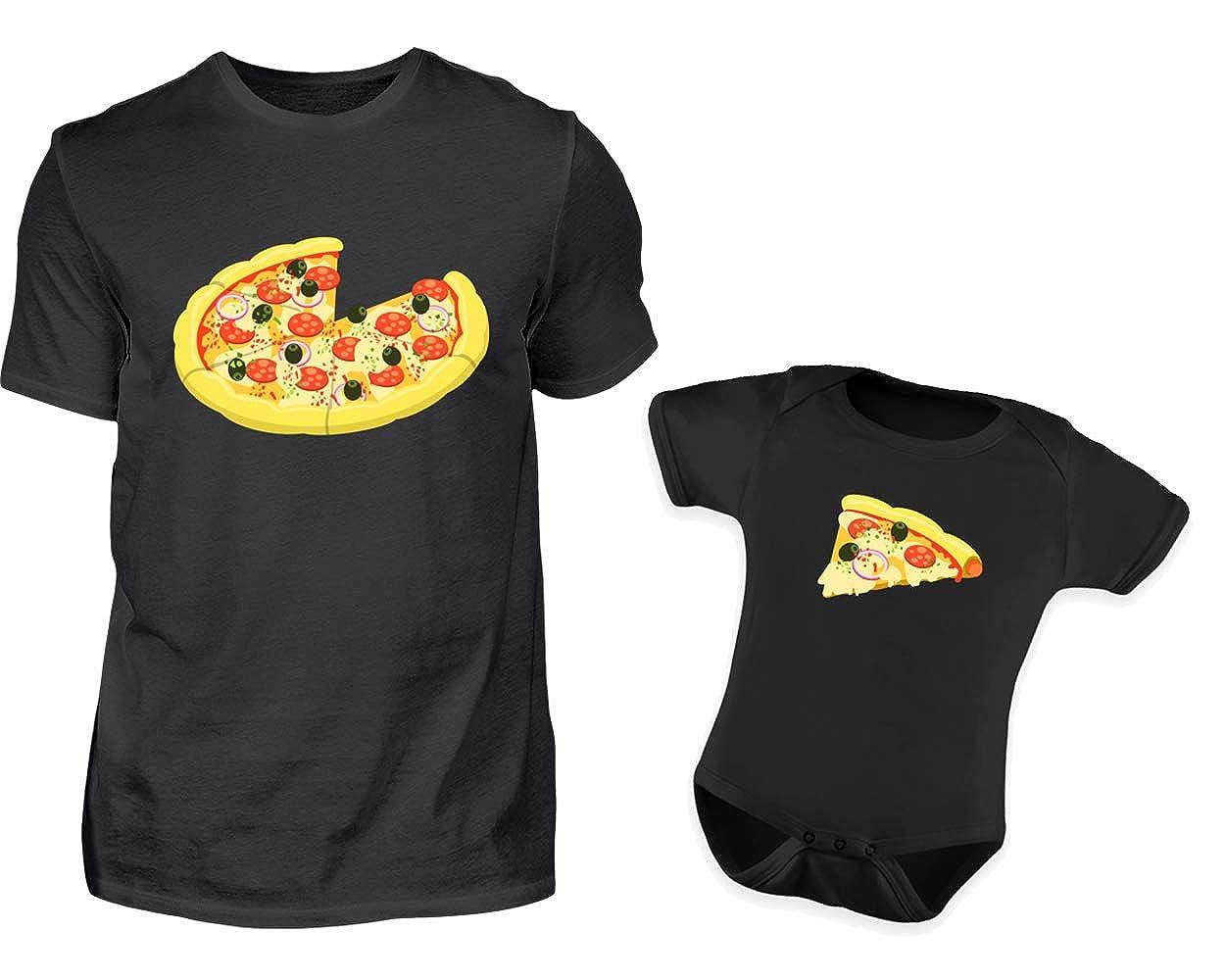 Vater Baby Partnerlook Pizza Tshirt Baby Body Strampler Outfit Set Rundhals Papa Sohn Partner Look Für Herren Und Jungs B07HG979Z5 Bodys & Einteiler Ausgewählte Materialien