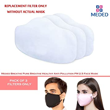 8da60bf6537 Image Unavailable. Image not available for. Colour  FILTER ONLY WITHOUT MASK  of Meded Breathe Pure Breathe Healthy Anti Pollution PM 2.5 Face Mask