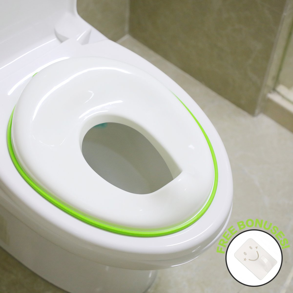 Potty Training Seat For Boys And Girls,Fits Round And Oval Toilets, Toilet Seat For Toddlers,Green LTD