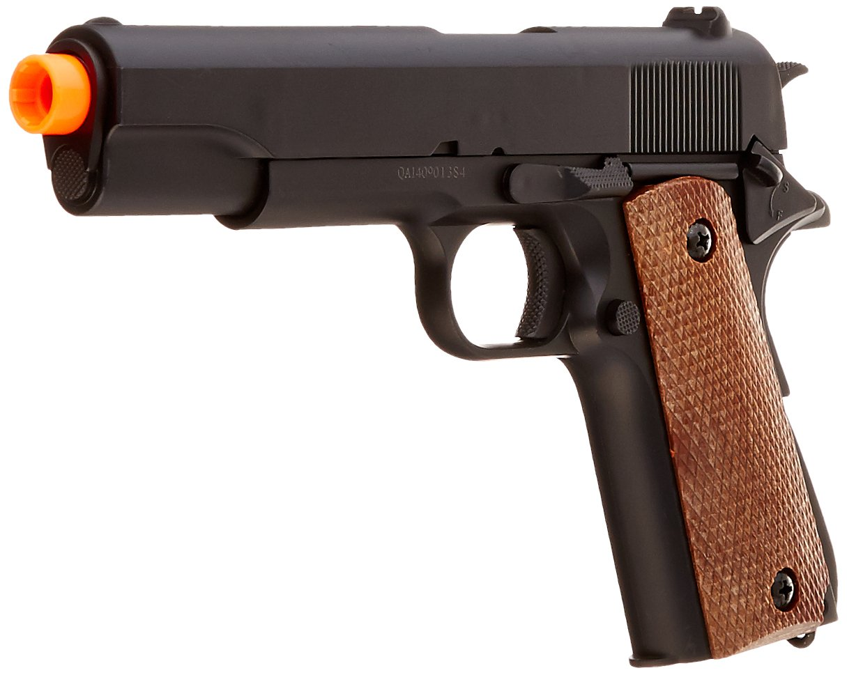 amazon com bbtac bt 1911a1 metal and abs spring airsoft pistol