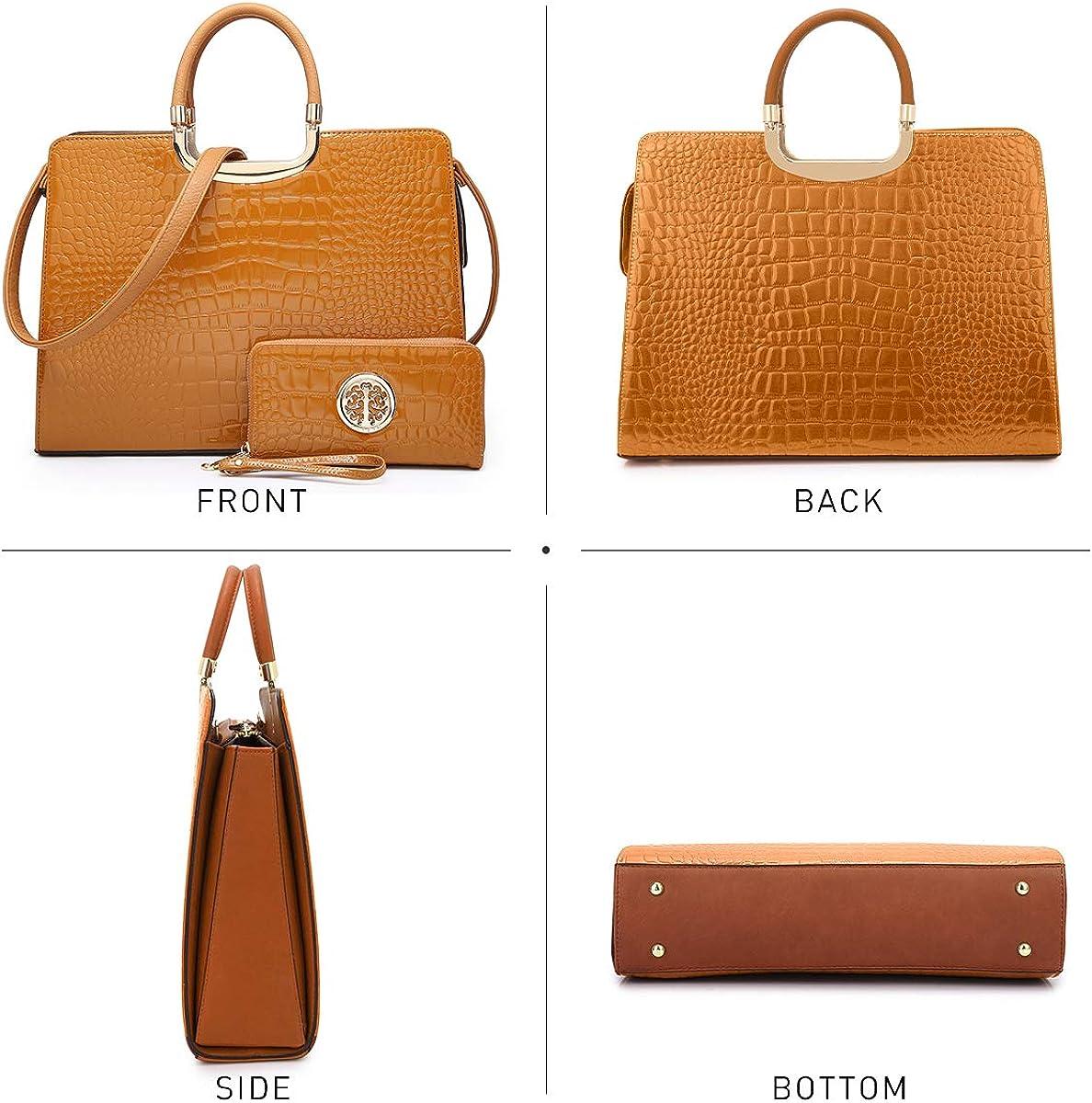 Womens Fashion Handbag Ladies Tote Shoulder Bags Satchel Purse Top Handle Work Bag with Matching Wallet