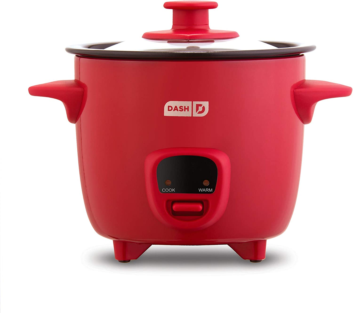 Amazon.com: Dash DRCM200GBRD04 Mini Rice Cooker Steamer with Removable  Nonstick Pot, Keep Warm Function & Recipe Guide, Red: Kitchen & Dining