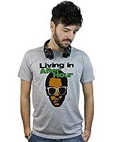 Doctor Music Shirt T-Shirt Living In After Hour, Maglietta DJ grigia,  Discoteca