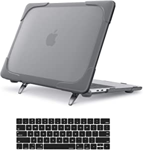 MOSISO MacBook Pro 13 inch Case 2019 2018 2017 2016 Release A2159 A1989 A1706 A1708,Heavy Duty Plastic Hard Shell with Fold Kickstand&Keyboard Cover Only Compatible with MacBook Pro 13 inch, Grey