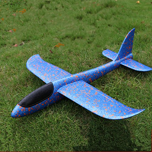 Throwing Foam Glider Plane, Formemory Inertia Foam Aircraft Toy, Self-Assembly Airplane Outdoor Sports for Kids Children Boys Girls as Gift Hand Launch Glider