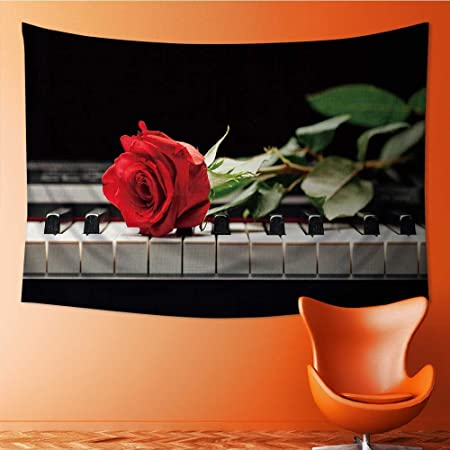 socomimi tapestry wall hanging decor piano keys and red rose home rh amazon co uk red rose homes padiham red rose home tuition