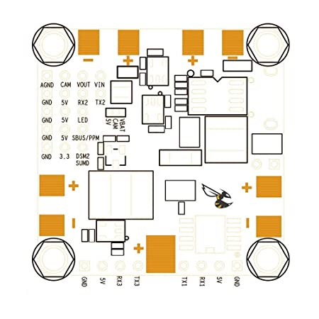 LITEBEE BetaFlight F4 Controladora De Vuelo OSD AIO F4 Flight Controller (Integrated PDB Power Distribution Board, BEC Rated to 1.5a 5v, Current Sensor, ...