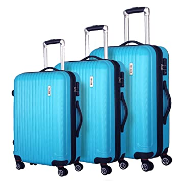 78846c86f Coomee Luggage 3 Piece set, Expandable Suitcase with TSA Lock, ABS Spinner  Hardshell lightweight