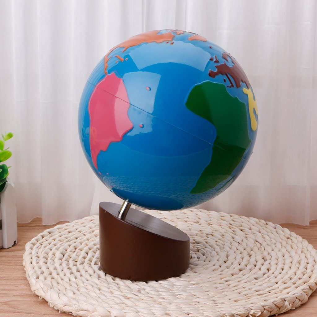 Ocobudbxw Montessori G/éographie Mat/ériel Globe of World Parts Kids Early Learning Toy