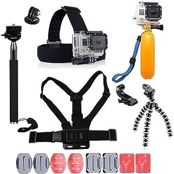 YhtSoprt Juego de accesorios para GoPro, compatible con GoPro Hero 6/5/4/3, Hero Session y SJ4000 Xiaomi Yi DBPower y otras cámaras deportivas