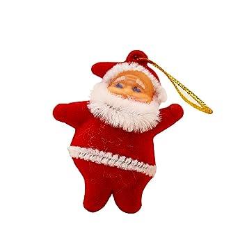 7f4f3adc5b4 30 piezas pequeñas de regalo de Navidad Santa Claus adorno colgante ...