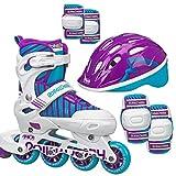 Roller Derby Carver Girls Inline/Protective Skate Pack Medium (3-6)