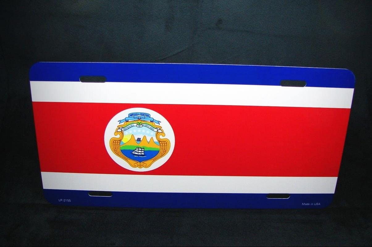 Color Natural Costa Rica Novelty License Plate