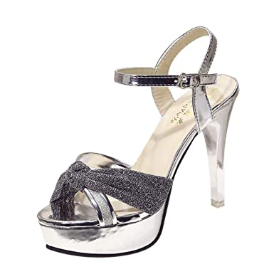 876e17168 ZARLLE Sandalias de Tacon Alto de Mujer Arco Medio Talón Correa de Tobillo  Boda Fiesta Noche Fiesta Sandalias Zapatos  Amazon.es  Ropa y accesorios