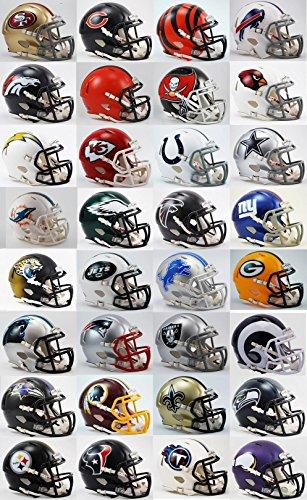 All 32 NFL Teams SPEED Revolution Riddell Mini Helmets by Riddell