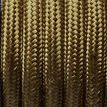 Vintage Grün Rund Stoff Flex – 3 Core geflochten TUCH Kabel ...
