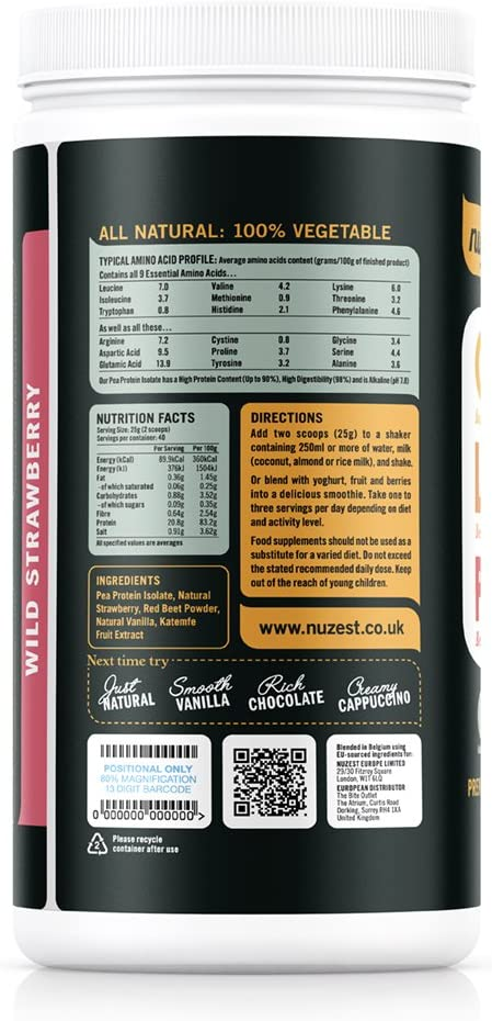 Clean Lean Protein Wild Strawberry 40 Serve - 1kg