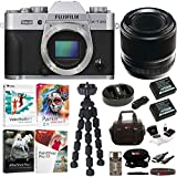 Fujifilm X-T20 Camera Body (Silver) with Fujifilm 60mm f/2.4 XF Macro Lens and Software Bundle
