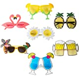 Novelty Party Sunglasses Creative Funny Hawaiian Tropical Glasses Luau Tropical Party Eyewear Hawaiian Themed Eyeglasses…