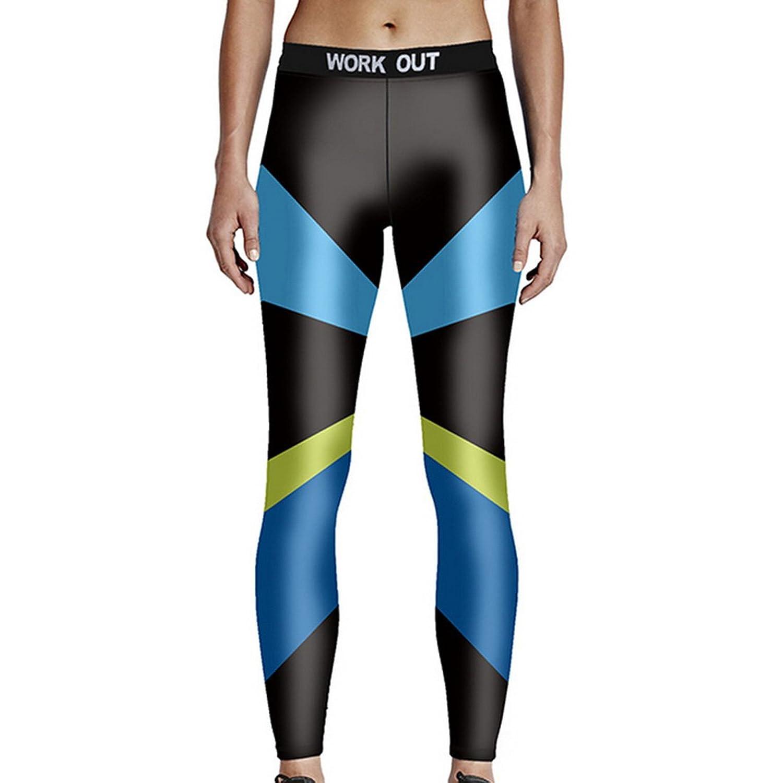 Vertvie Women's Mid Waist Color Block Yoga Pant Performance Activewear Workout Leggings