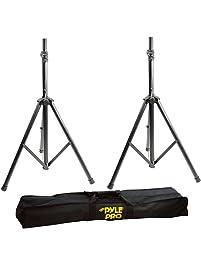 Pyle Stage & Studio DJ Speaker Stands - Pro Audio PA Loudspeaker Stand Kit with Storage Bag, Height Adjustable, Pair, 8...
