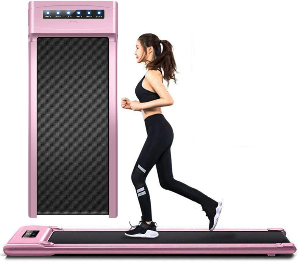 Wgwioo Electric Treadmill with Remote Control, Home Office Use Running Machine, Ultra Thin and Silent Easy to Move and Store