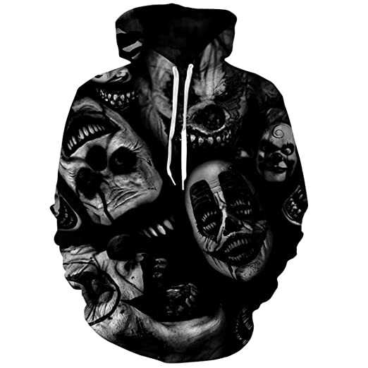 Clowns Hoodie Hoodies Men Women Fashion Autumn Winter Sportswear Tracksuit Sudadera Hombre Casual 3D Pullover Hooded
