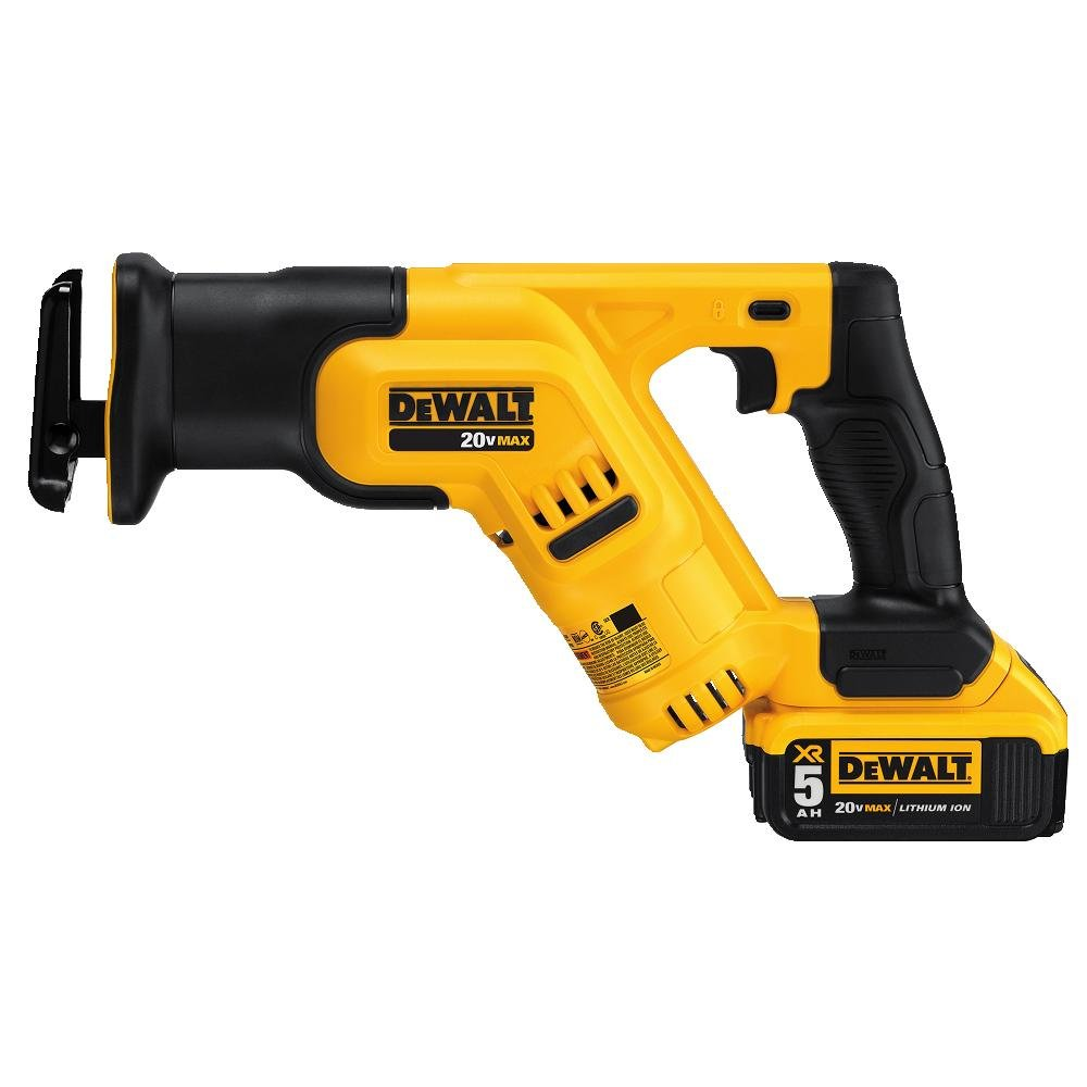 DEWALT 20V MAX Cordless Reciprocating Saw Kit, 5 Amp-Hour Battery DCS387P1