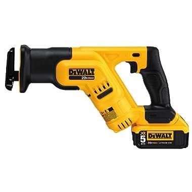 DEWALT DCS387P1 20-volt MAX Lithium Ion Compact Reciprocating Saw Kit