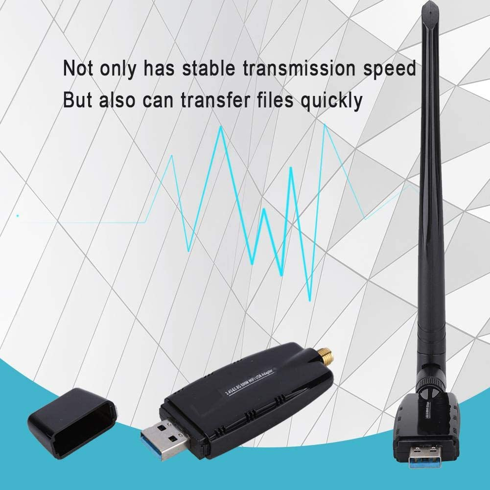 ASHATA W67-5DB Network Card Bluetooth 2 in 1 Bluetooth 4.0 Receiver Set for Desktop//Laptop 600M Dual-Band Wireless WiFi Network Card