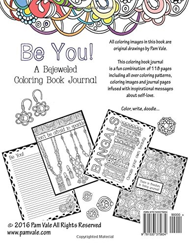 A Bejeweled Coloring Book Journal 9781533375834 Pam Vale Books