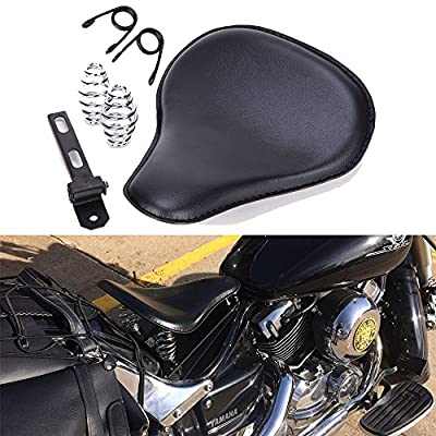 Black Motorcycle Cushion Spring Solo Seat For Honda Rebel 250 300 500 Refit Bobber: Automotive