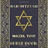 Bar Mitzvah Mazel Tov Guest Book: Beautiful Shiny