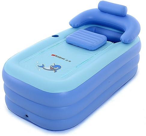 Comprar Intime Plegable Inflable Gruesas Adultos Calientes Bañera, Niños Piscina Inflable, Azul