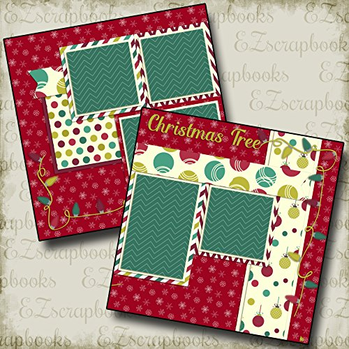 Premade Christmas Layouts - CHRISTMAS TREE - Premade Scrapbook Pages - EZ Layout 575