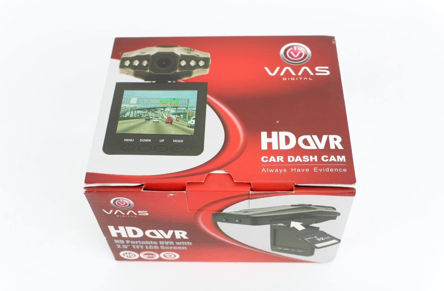 VAAS HD Portable DVR with 2.5 LCD Screen and Ext Camera In