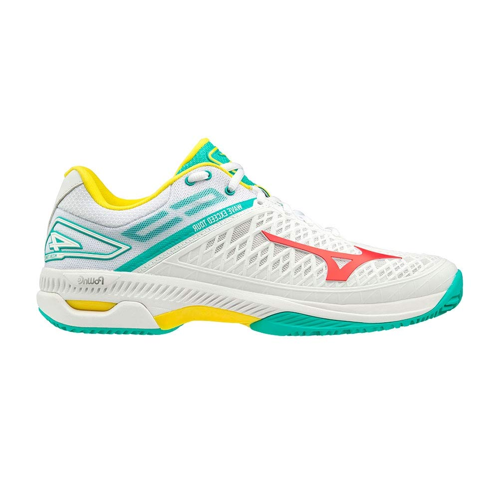 Mizuno Wave Exceed Tour 4 CC Blanco Aguamarina 61GC2077 62: Amazon ...