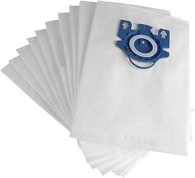 10Pcs Filtros para aspiradoras, Filtro De Tela Las bolsas de filtro del polvo de la tela de los aspiradores encajan las piezas cabidas para Miele GN tipo S2 / S5 / S8: