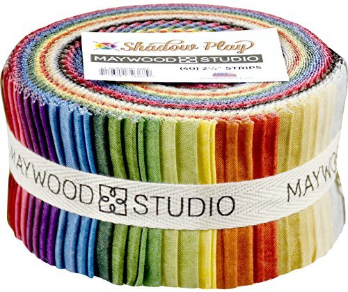 (Shadow Play Natural Strips 40 2.5-inch Strips Jelly Roll Maywood Studio)