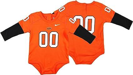 Amazon Com Nike Ncaa Baby Infant Oklahoma State Cowboys 00 Football Jersey Creeper Orange Clothing