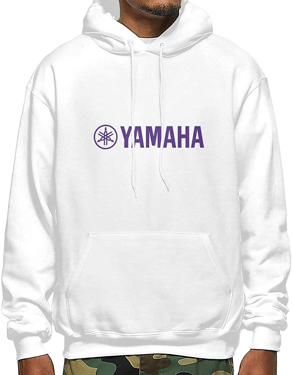 HRSHENG Boys Yamaha Logo Motorcycle Purple with Cap New Hoodie White