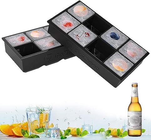 Oferta amazon: GoZheec Bandeja De Hielo De Silicona, [2 Pack] 16 XL cubitera Hielo Molde para Hielos, Bandeja de Cubitos de Hielo para Congelarse Alimentos para Bebés, Cola,Cócteles Cola Whisky…