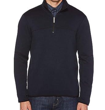 aa5068cd3e Perry Ellis Men s Knit Quarter-Zip Sweatshirt at Amazon Men s Clothing  store