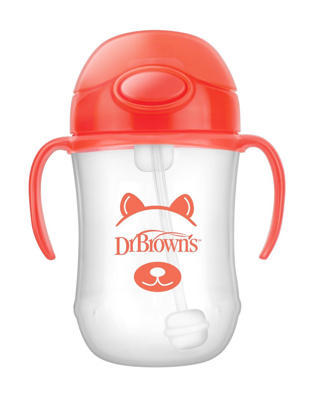 Dr. Brown's Soft Spout 9 Ounce Transition Cup, Orange, 6+ Months