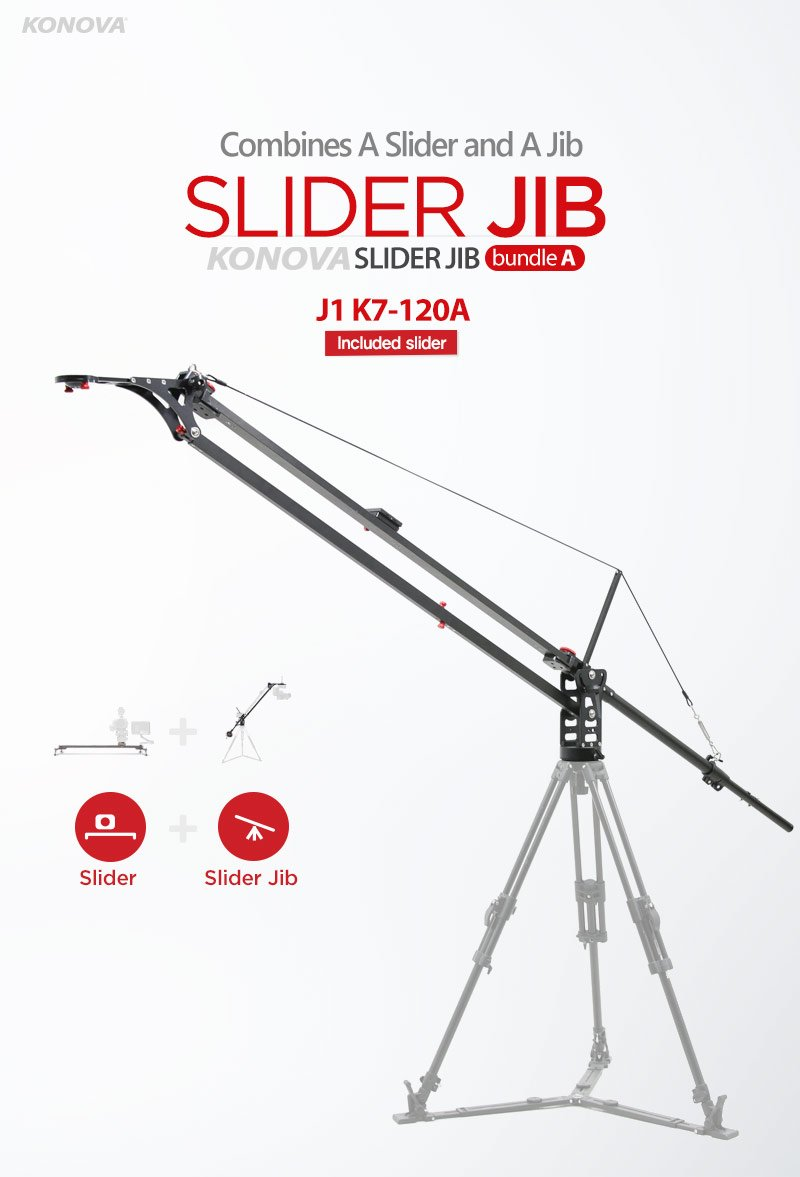 Konova Slider Jib Bundle A J1 K7 120A 47.2 Inch (Include K7 120cm Slider)