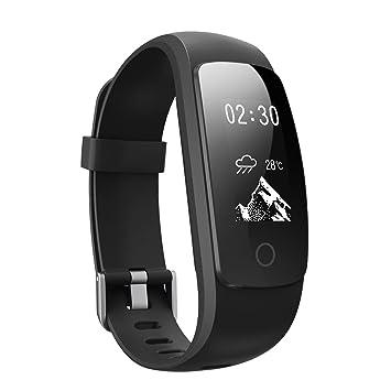 Pulsera Actividad Inteligente Pronóstico del Tiempo Pulsómetro Podómetro 14 Modos de Entrenamiento Monitor de Ritmo Cardíaco Pulsera de Fitness ...